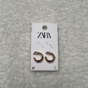 🏷 NWT ZARA Gold Hoops